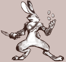 Bunnymund practice by Teleph0bia