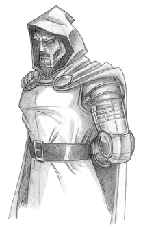 Dr. Doom pencil by TonyZeller-614