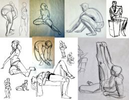 Figure Drawings by HyraxAttax
