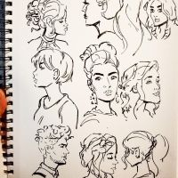 Inktober 2017 - Day-24 - Yet More Hair Studies by Spidersaiyan
