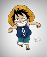 Kid Luffy Colored by LoochOnTheLoose