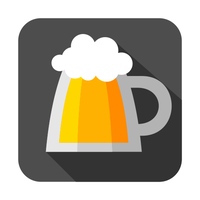 Flat pint icon by ivprogrammer