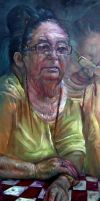 Portrait of my grandmother by nailone