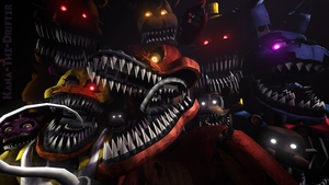 We'll Stay Here Forever (FNAF SFM Wallpaper) by Kana-The-Drifter