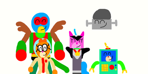 Unikitty And Friends In Their Halloween Costumes by Elbeno62