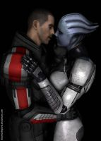 John and Liara Romance by BeatrixShepard