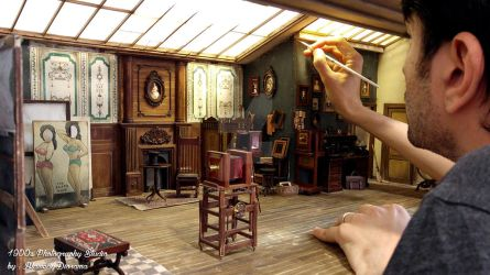 Miniature photography studio from the 1900s by alamedy