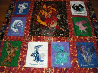 Dragon Quilt bottom by WhickedCreations
