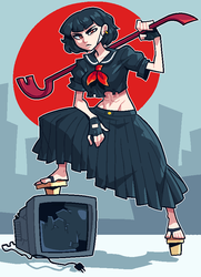 COMMISSION: Delinquent Woman by Cubesona