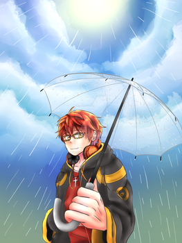 [Mystic Messenger] - Sunshower 707 by Akiraka-chan