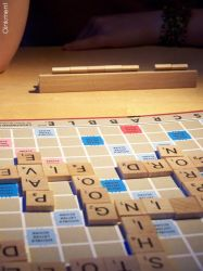 Late night Scrabble Games by Oinkment