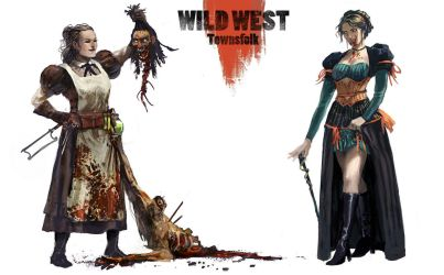 Wild west Townsfolk by BGK-Bengiskhan