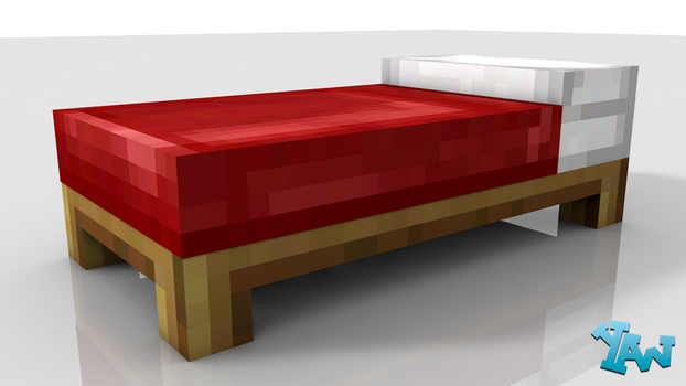 Minecraft Bed Model by CraftDAnimation