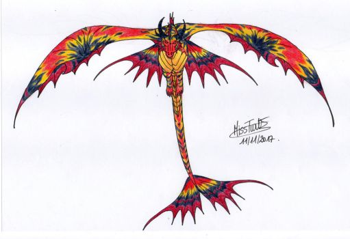 Colourful wyvern by TurtleClairou