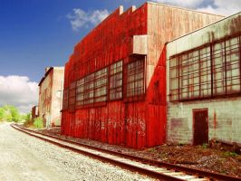 Building by the tracks by tolcott