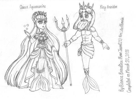 Gift-The Coreliic Monarchs sketch by RoseJewel21