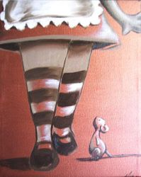 Striped Socks and a Mouse by notkristina