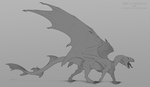 Dragon Concept |lines| by ulv-f