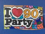 I Love 90s Party Art Colorful Design Drawing  by NWeezyBlueStars23