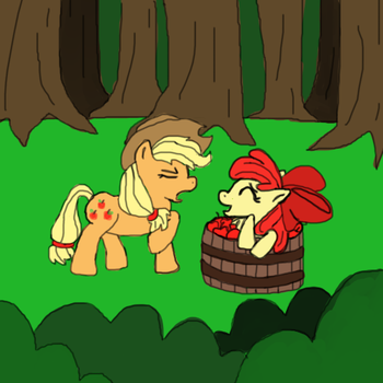 What are you doing Applebloom? by Giniqua