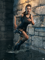 Lara Croft: Water Sport by JavierMicheal