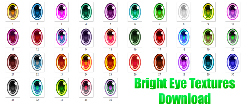 Bright Eye Textures Download by TheMistressOfDiscord