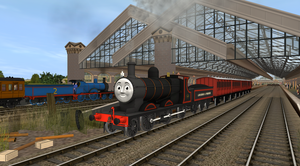 James Takes His First Passenger Train by EngineNumber14