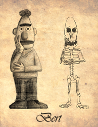 'Bert' - with skeleton by peterhirschberg
