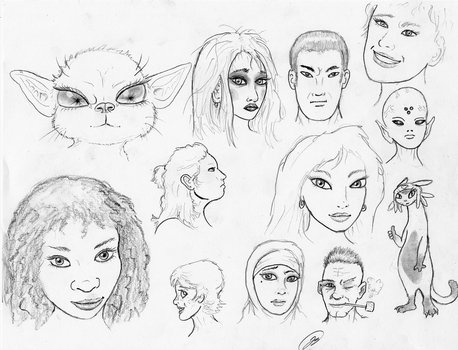 FaceSketches180127 by TheMightyGorga
