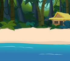Beach Side Jungle Hut by matty4z