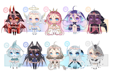 ADOPTS: 100 Adopt challenge 51-60 [3/10 OPEN] by Mewpyonadopts