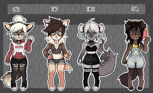 [OPEN] anthro adopts (1 left) by gothicwaifu