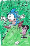 Colored in Sonic and Pink Sally Acorn pic by dth1971