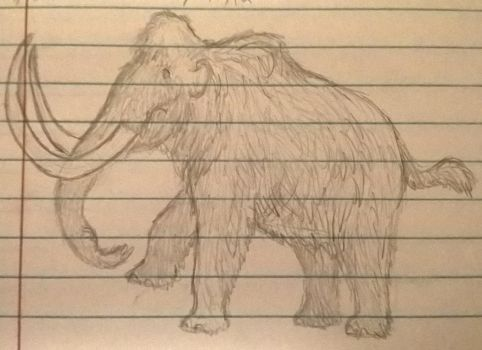 Doodle Woolly Mammoth 2 by CMIPalaeo