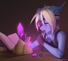 Draecember 27th - Doing their hobby by Zeon-in-a-tree