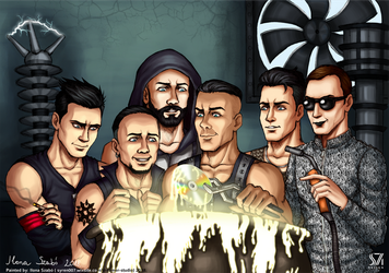 Rammstein Band fanart by syren007