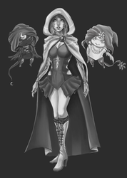 WIP: Lily and the Puppets by debringles