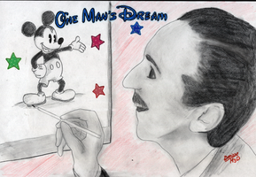 Walt Disney... by MYDpaperART