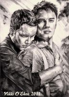 Torchwood Lovers Pencil by DragonPress