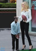 Kate Upton Playing Football by ChaoticWarlord