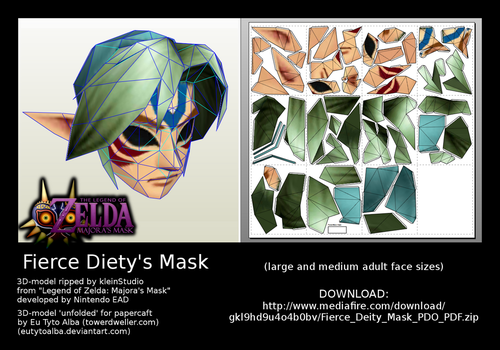 Fierce Deity Mask PDO/PDF by EuTytoAlba