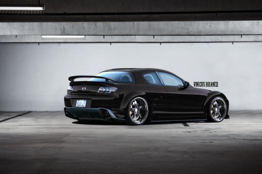 Mazda Rx-8 Black by vicadesigner
