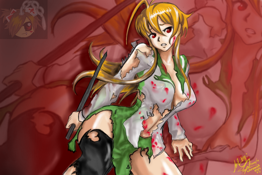 rei miyamoto of highschool of the dead by miah013