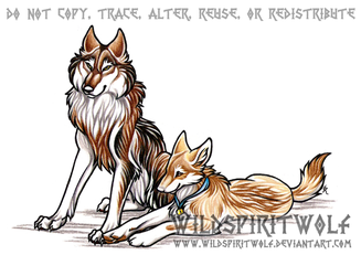 Kafara And Andurina Wolves by WildSpiritWolf