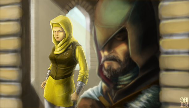 Gul and Ezio by SyedJeem