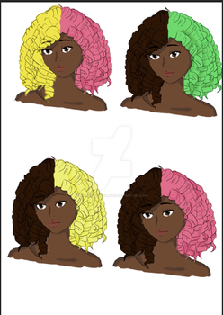 Loli's Sweet Shoppe Wig Colors 1 by Kana-of-the-Flames
