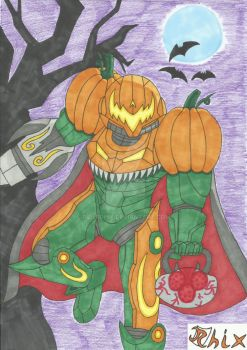 Trick or Metroid by RiderRhix