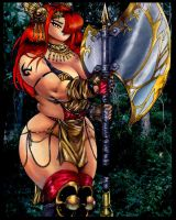 Amazon Warrior Queen Mashara by Diamondink7