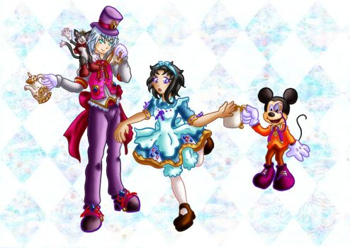 Alice mad hatter and gang by Lrme87