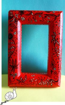 Hand Painted Frame by HuShLoOp
